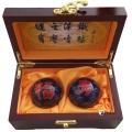 45mm福寿景泰蓝保健球木盒装